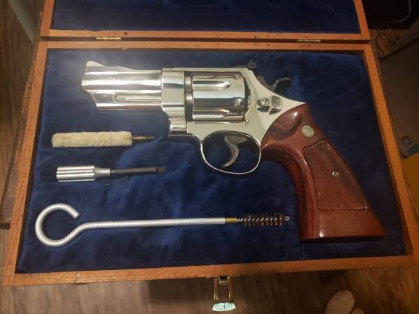 """Smith & Wesson - SOLD Smith & Wesson Model 27-2 3 1/2"""" Nickel New in Display case"""