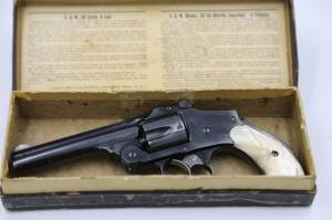 """Smith & Wesson - Smith & Wesson 38 Safety Hammerless 4th Model 4"""" Blue - Image 2"""