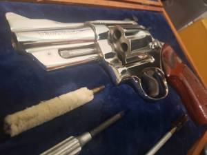 """Smith & Wesson - SOLD Smith & Wesson Model 27-2 3 1/2"""" Nickel New in Display case - Image 2"""